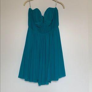 Aqua strapless cocktail dress - like new